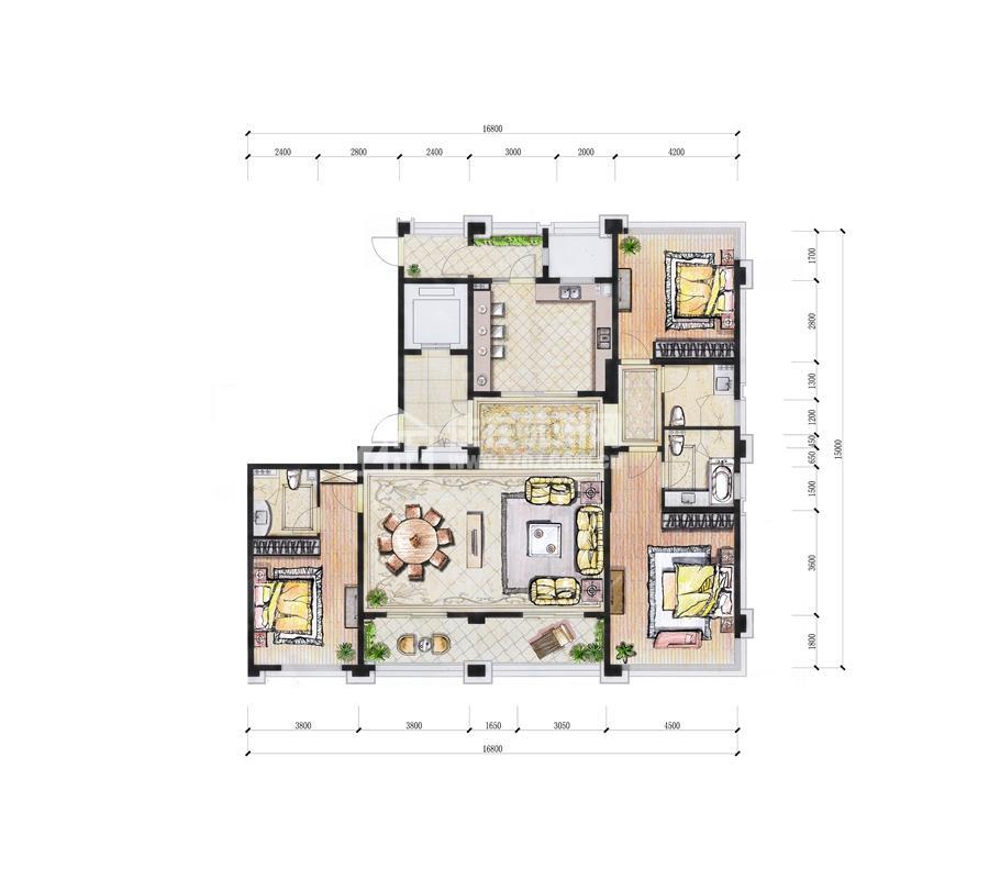东3#A211平米三房二厅三卫