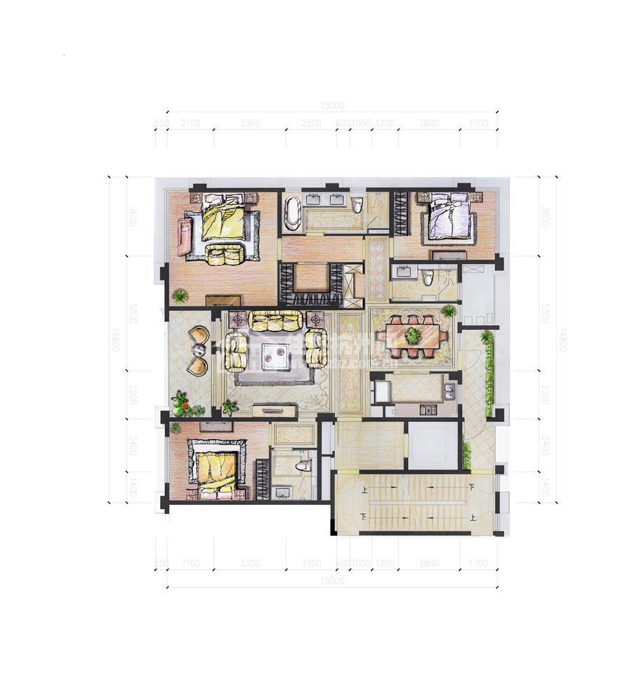西4#B210平米三房二厅三卫